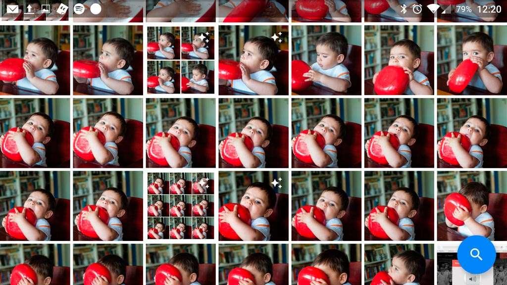 Een serie foto's geschoten met een spiegelreflex in de snelvuurstand.