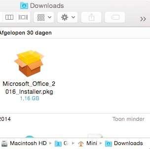 Start de installatie van Office met een dubbelklik op dit bestand.