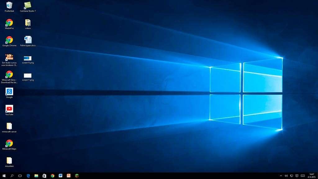 Welkom bij Windows 10. Na een geslaagde upgrade ziet u exact hetzelfde bureaublad, maar nu in een Windows 10-jasje en met teruggekeerd startmenu.