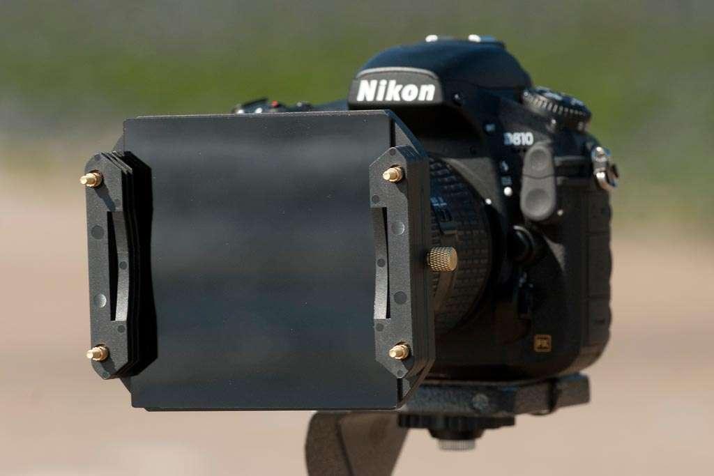 Een filtersysteem van Formatt Hitech.