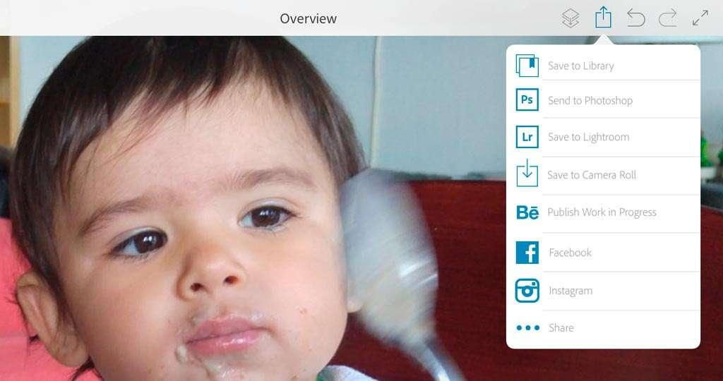 Allerlei manieren om je bestanden te delen: naar Photoshop, Lightroom enzovoort.