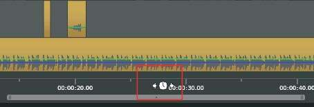 Aanpassen van de schaal van de tijdlijn met de tijdlijnscrubber.