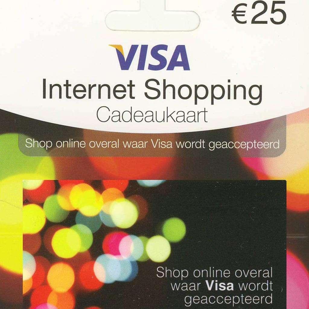 Prepaidcreditcard voor internetbetalingen.