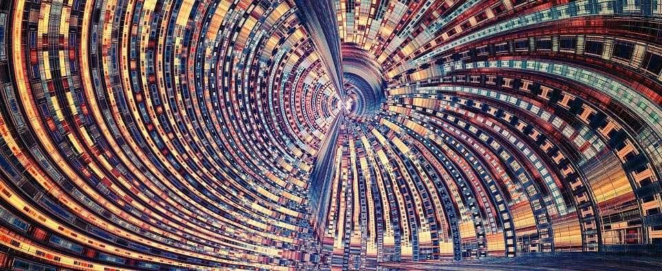 Een fractal opgeslagen als png-bestand. Hij kan bijvoorbeeld als wallpaper worden gebruikt.