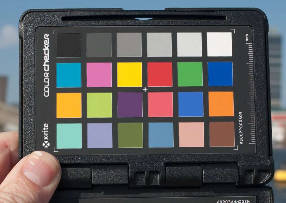 De Colorchecker Passport van X-Rite.