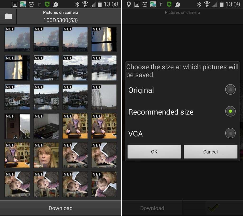 Je kunt nu een foto kiezen die je naar je smartapparaat wilt uploaden.