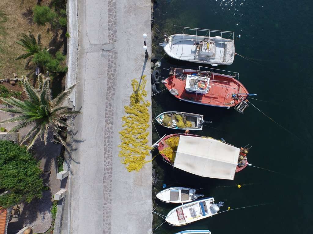 Griekse vissersboten. Foto: Wiebe de Jager / PixAir