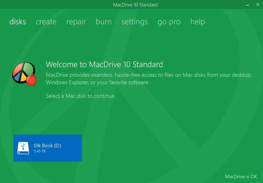 MacDrive aan het werk met de 6 terabyte HFS+-schijf.