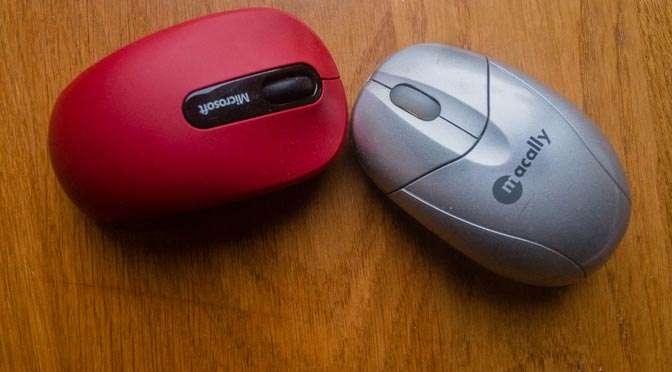 Muizenissen met een Microsoftmuis