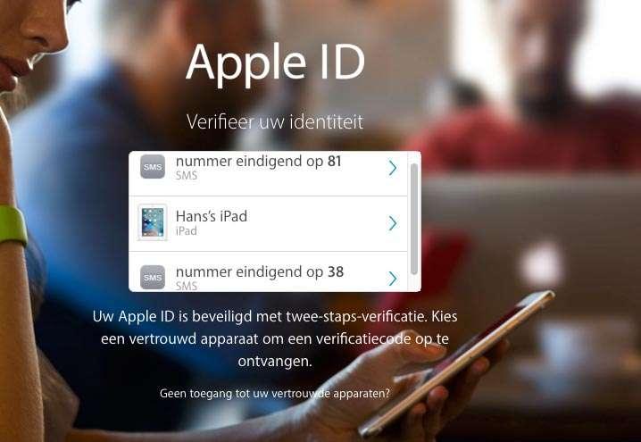 Inloggen met behulp van Vertrouwde telefoonnummers en apparaten.