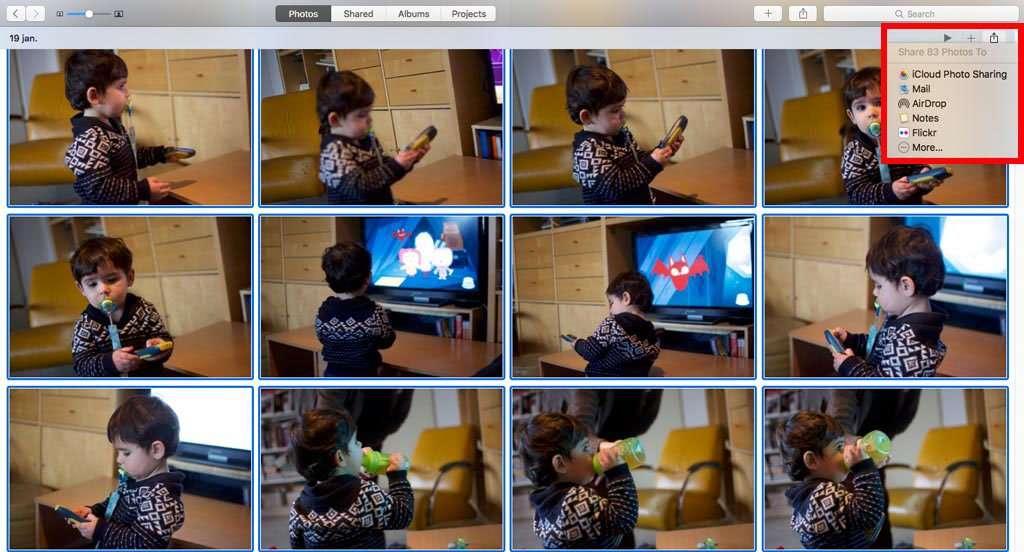 Je kunt foto's onder andere via iCloud delen.