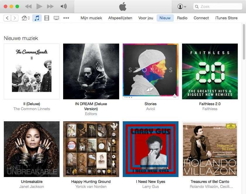 Met iTunes Music heb je een enorme collectie muziek tot je beschikking.