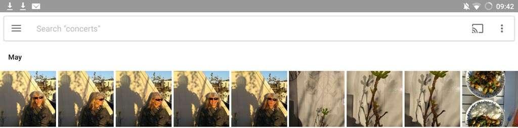 De nieuwe zoek-interface met een zoekbalk bovenaan het scherm.