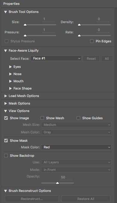 Vanuit het menu Filter kies je voor Liquify, waarna er automatisch in de foto gezichten worden geselecteerd, die je vervolgens kunt aanpassen.