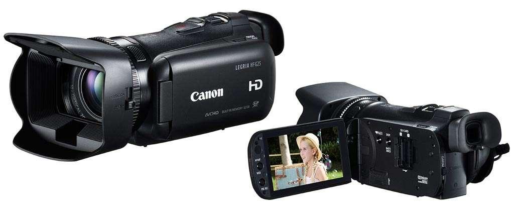 De hedendaagse moderne videocamera.