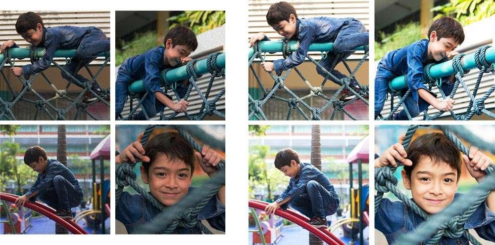 Snel met Instafix vier foto's tegelijk aanpassen.