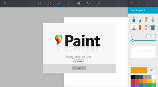 Nieuwe versie van Microsoft Paint met 3D
