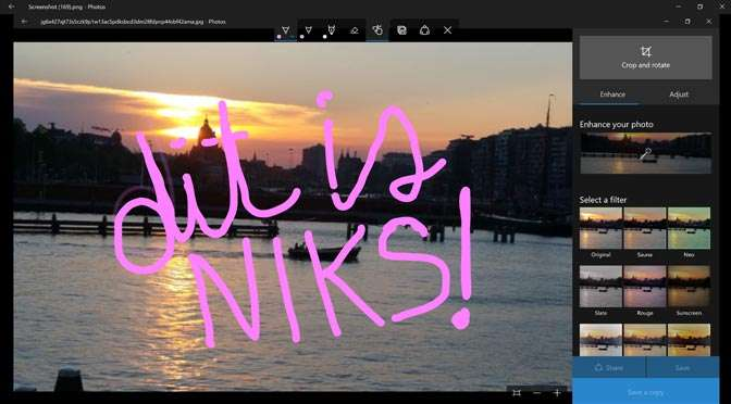 Minder functionaliteit in update van Windows Photos