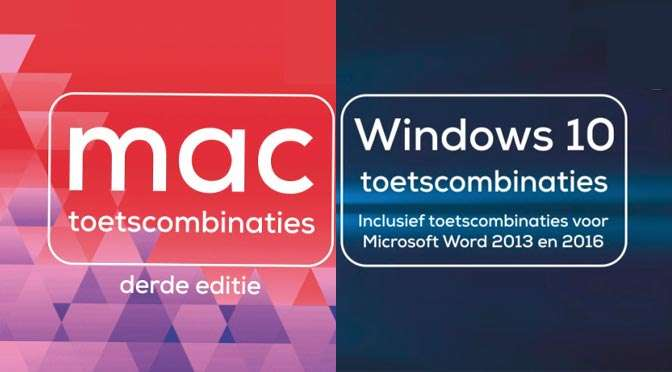 Windows 10 toetscombinaties en Mac toetscombinaties