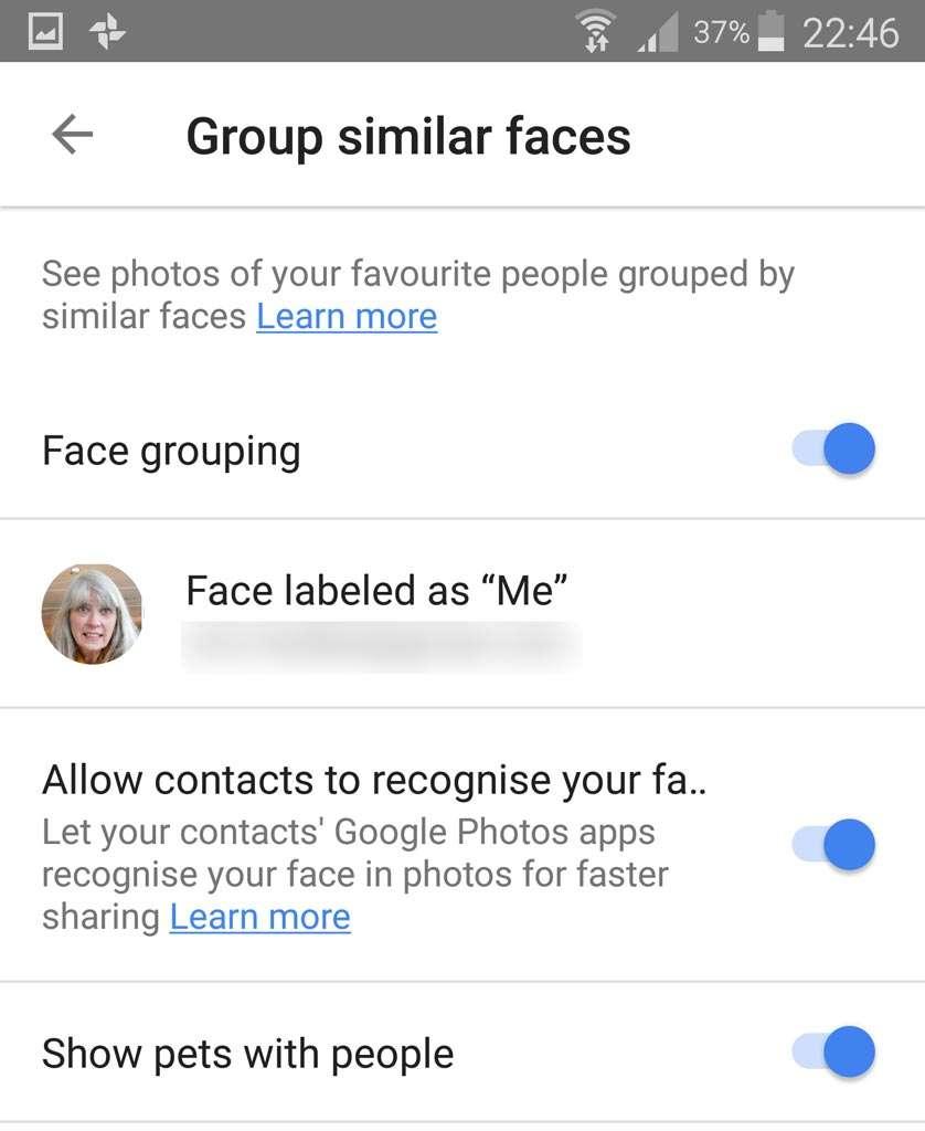 Huisdieren herkennen in Google Foto's