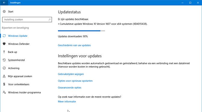 Deze onverwachte uopdate repareert bij de update van vorige week geïntroduceerde ernstige fouten
