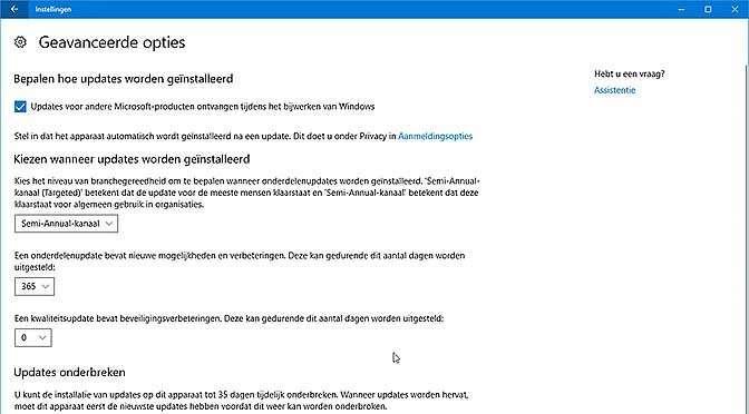 Hou die Windows 10 upgrades een tijdje tegen