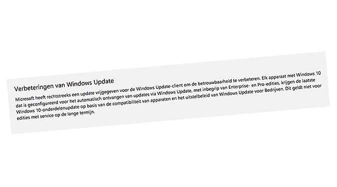 Windows 10 blijft upgrades pushen