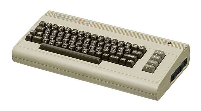 Een echte C64 (bron afbeelding: https://commons.wikimedia.org/wiki/File:Commodore-64-Computer-FL.jpg)