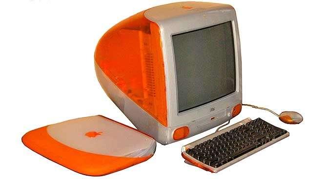 De allereerste iMac's waren vrolijk gekkleurd, net als de 'bijpassende' notebooks (bron afbeelding: https://commons.wikimedia.org/wiki/File:IMac_G3_Tangerine.png)