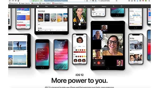 iOS 12 focust op optimalisatie en snelheid