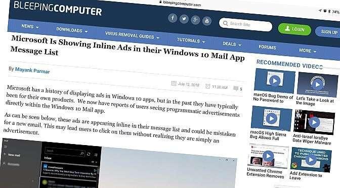 Microsoft spamt mail-app in Windows 10 - COMPUTER CREATIEF