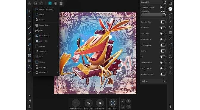 Affinity Designer voor iPad
