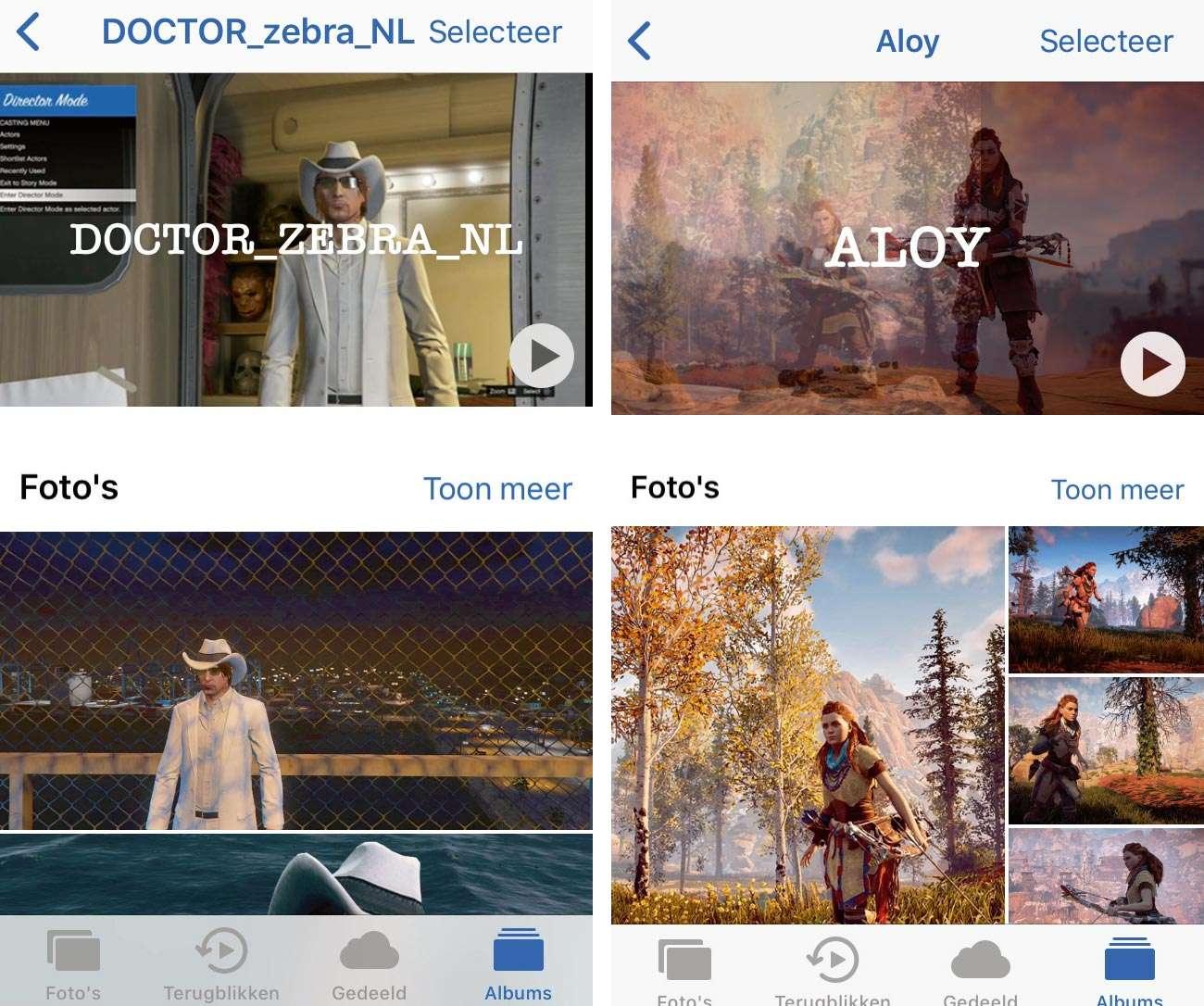 Personen in Apple Foto's