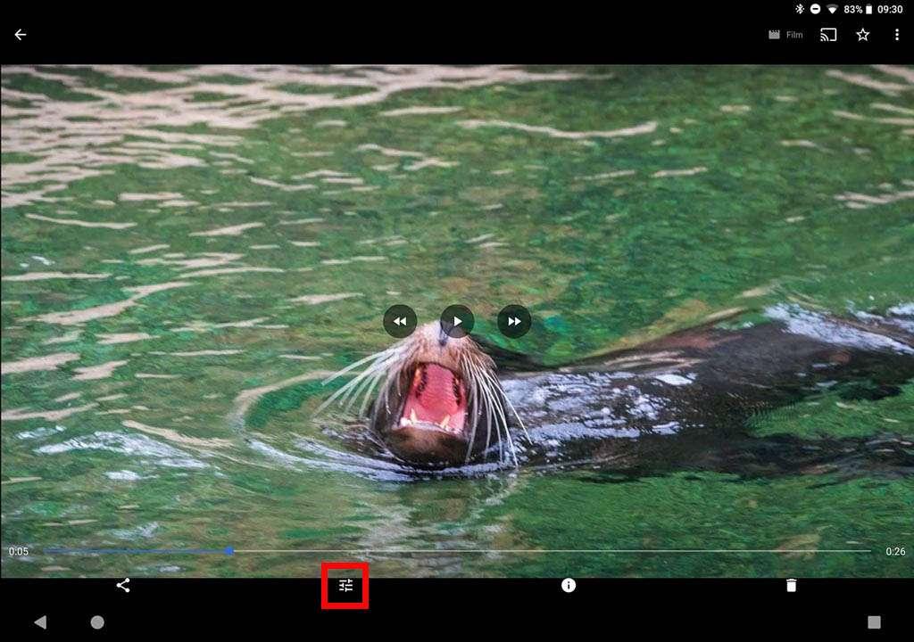 Een filmpje maken in Google foto's