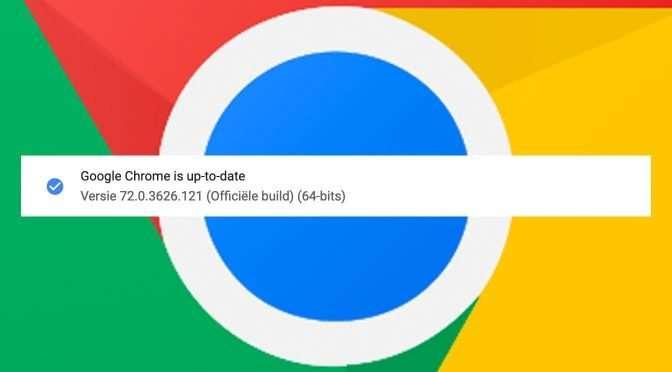 Ga snel Chrome updaten!