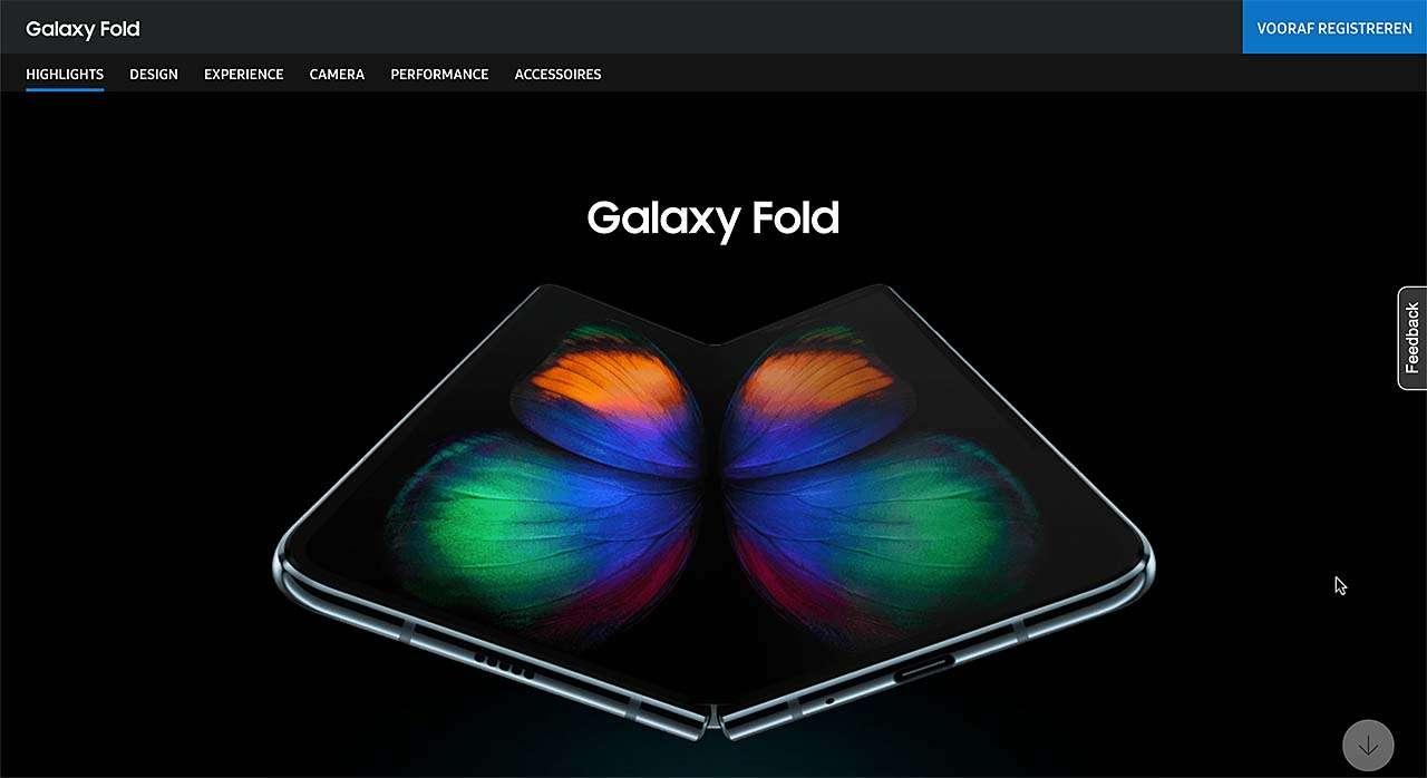 Op de website van Samsung is de Galaxy Fold nog altijd vooraf te bestellen (https://www.samsung.com/nl/smartphones/galaxy-fold/)