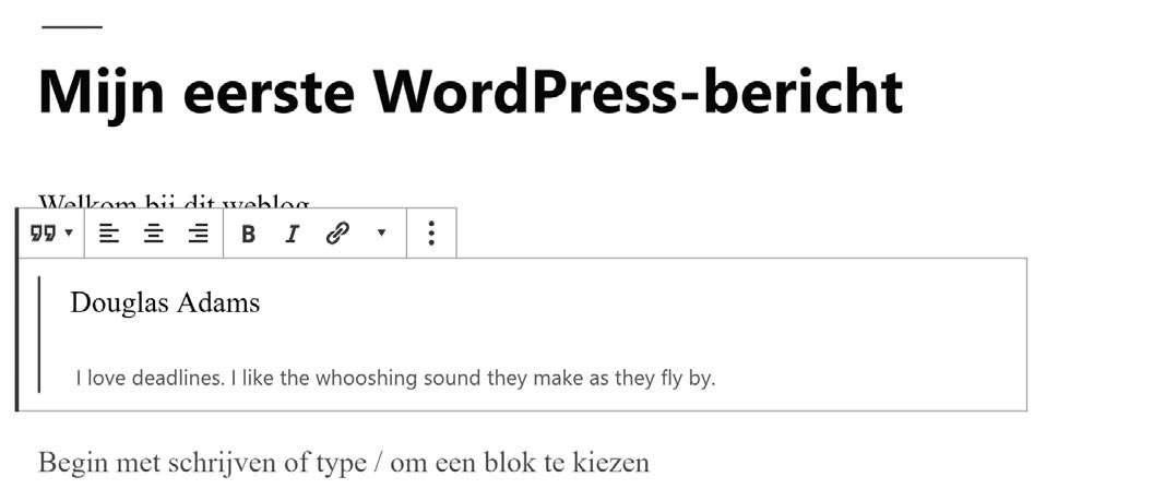 visuele editor Gutenberg