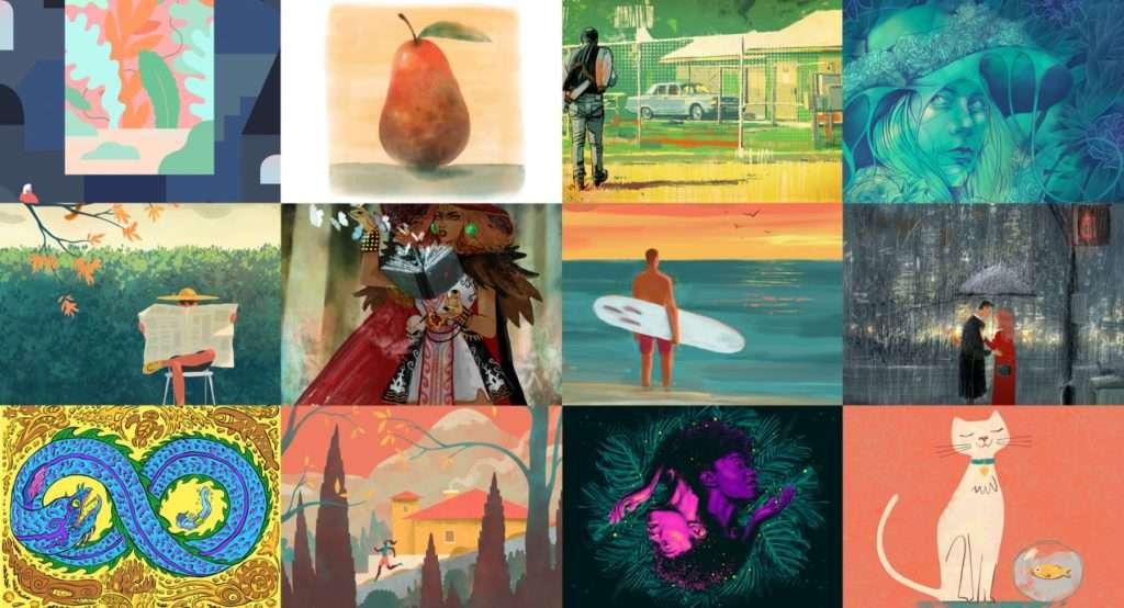 Behance gallerij met werk dat nu al door Fresco-gebruikers is gemaakt