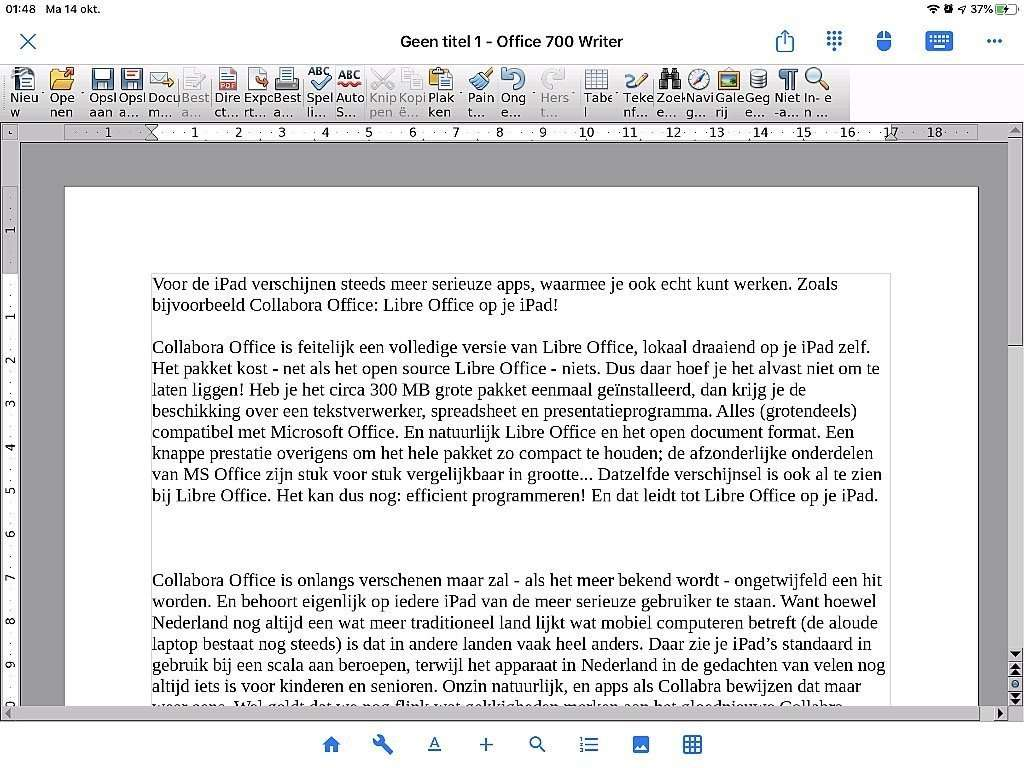 Libre Office voor iPad