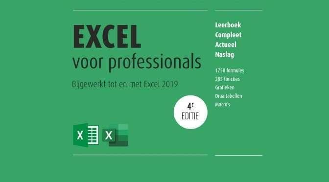 Wat is er nieuw aan de 4de editie Het complete boek Excel voor professionals?