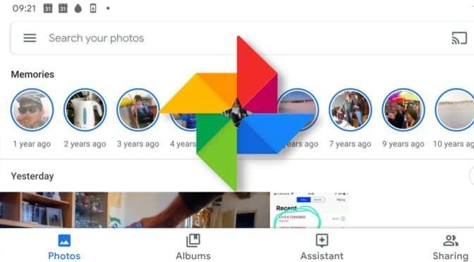 Herinneringen in Google Foto's