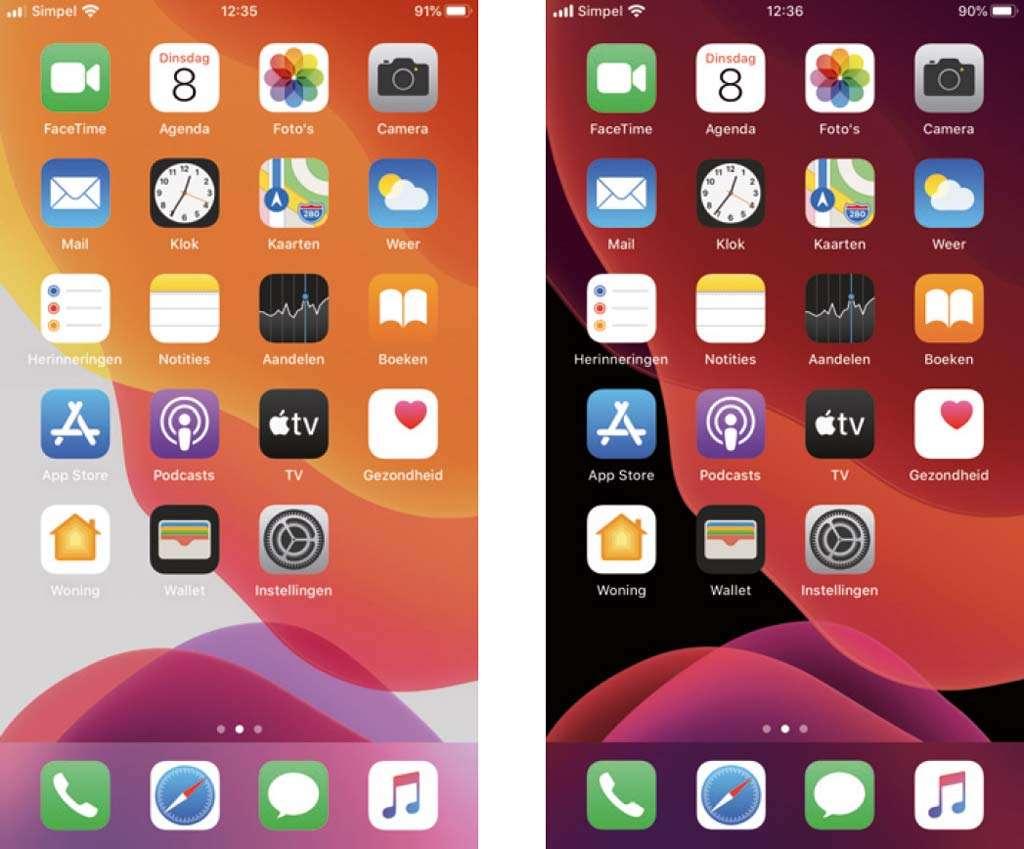 nieuw in iOS 13