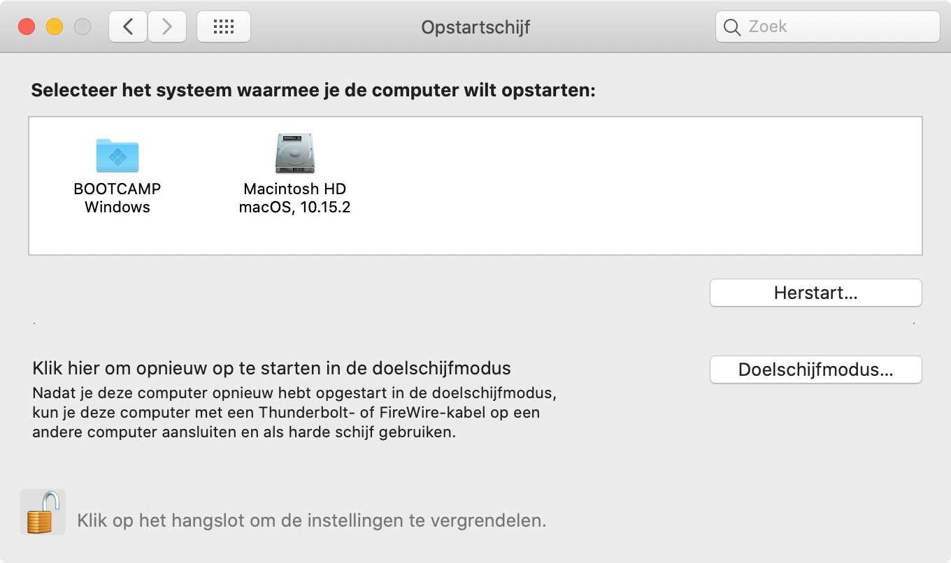 Windows op een Mac