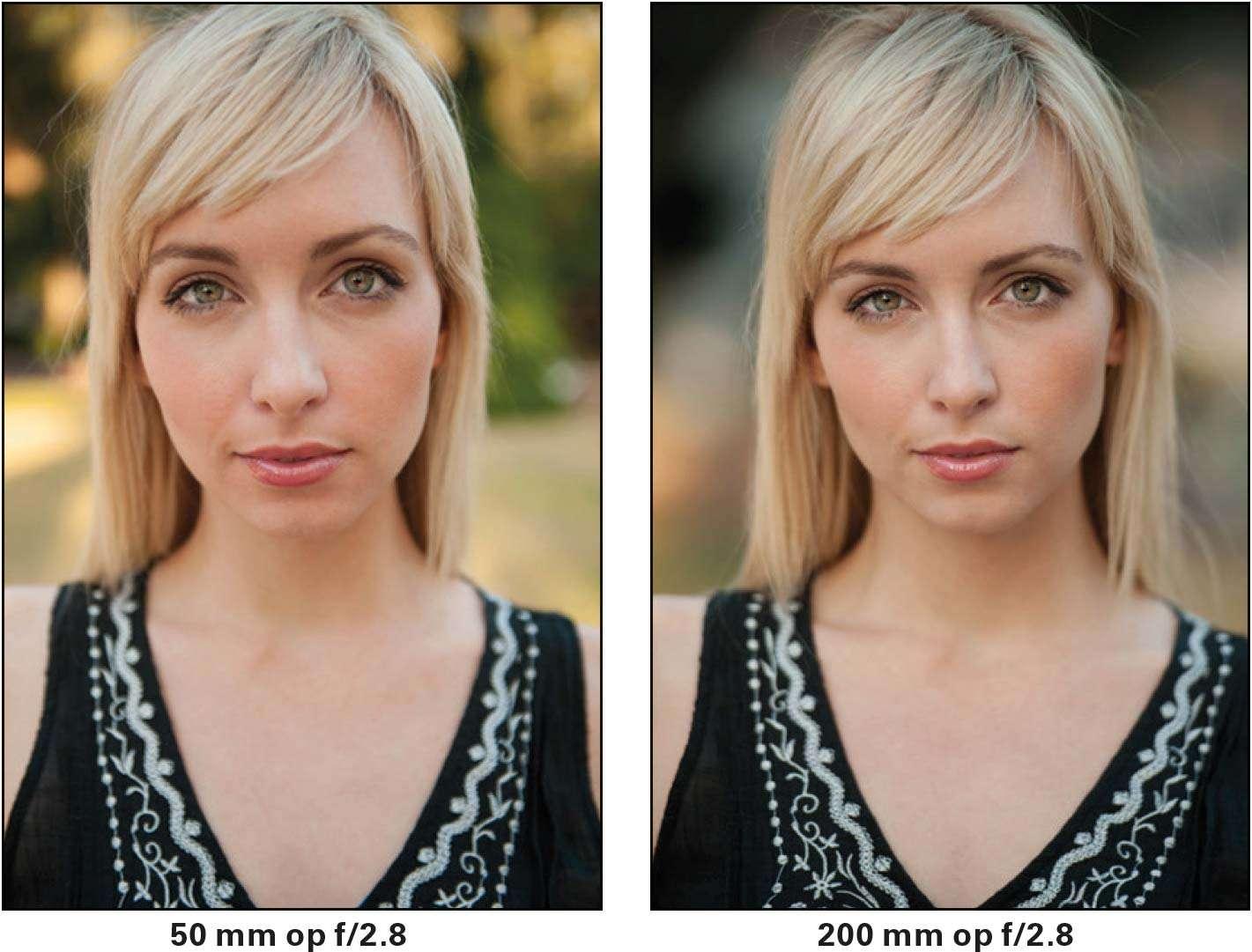 Gebruik 50 mm niet voor close ups als portretlens