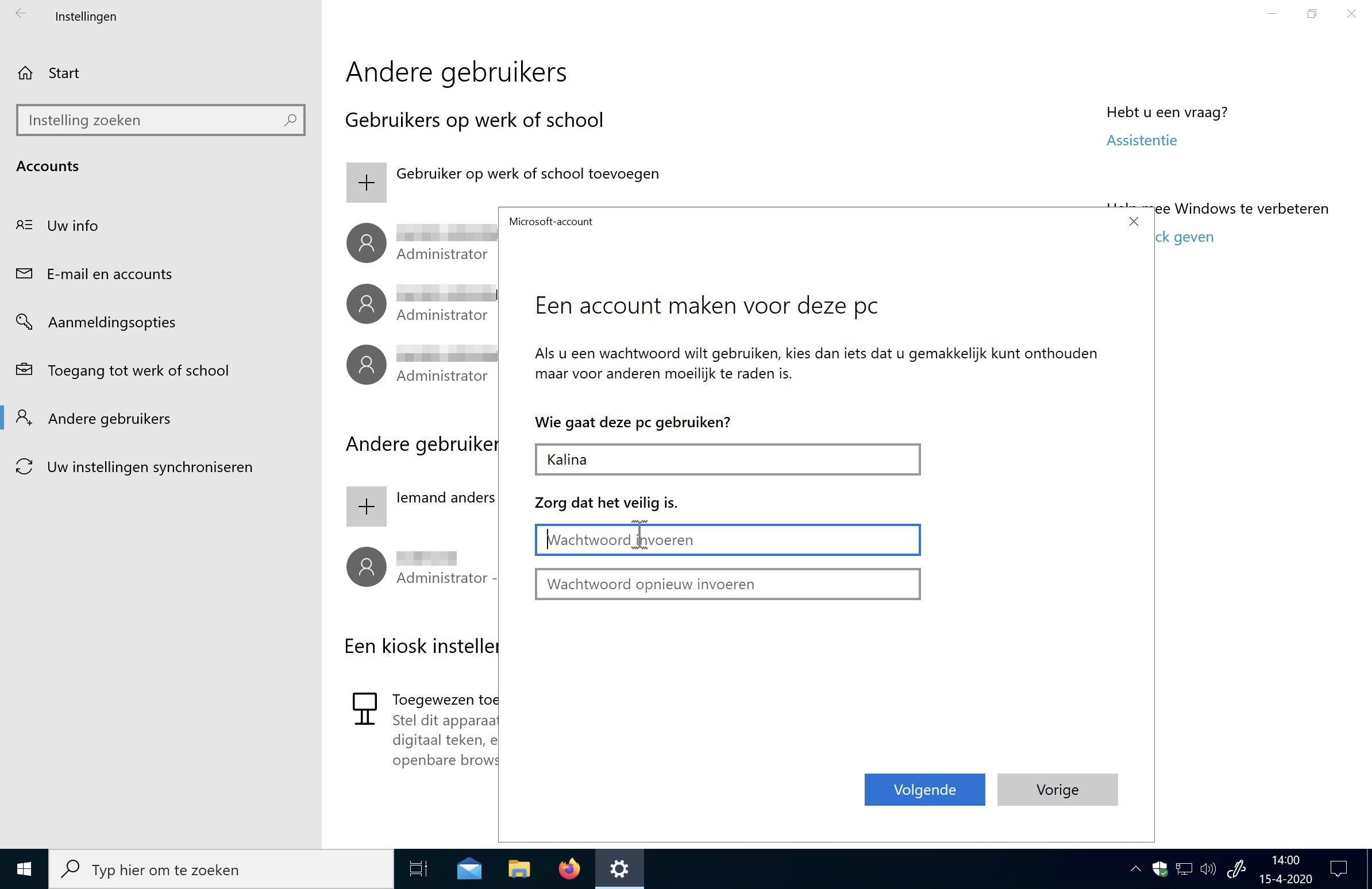 Windows 10 gebruikersaccount