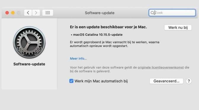 veiligheidsupdates van Apple