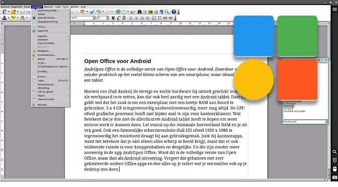 Open Office voor Android