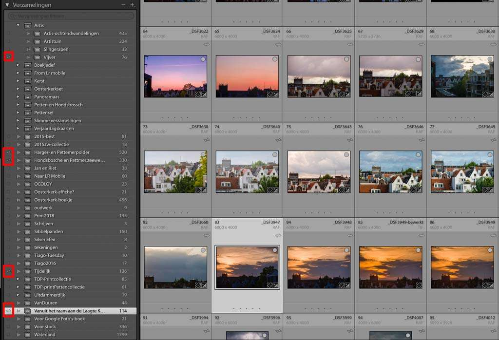werken met je foto's in de Lightroom-cloud