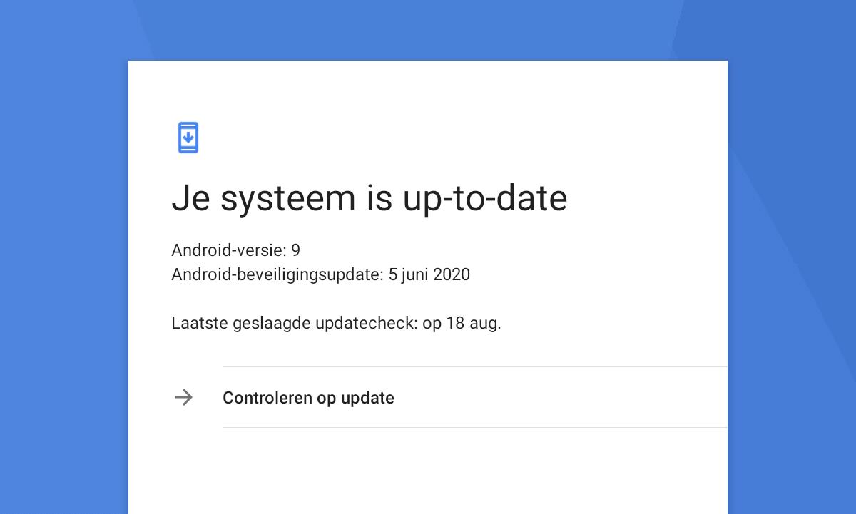 updaten van Android