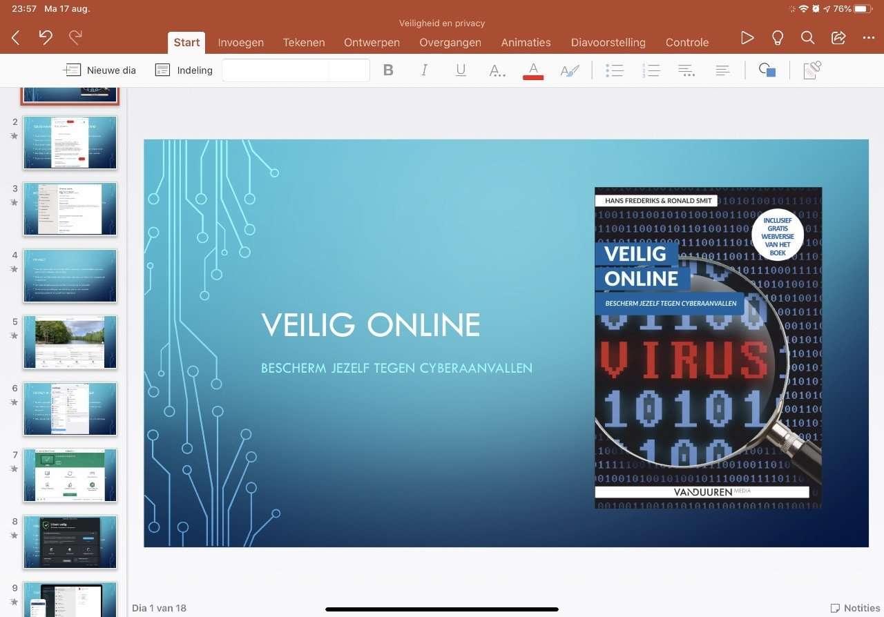 PowerPoint op de iPad